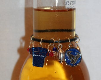 Houston Texans Beer Charm Texans Wine Charms Football Charms Texans Charms