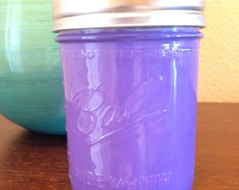 Wood Wick, 16 oz Soy Candle in Wide Mouth Ball Mason Jar.