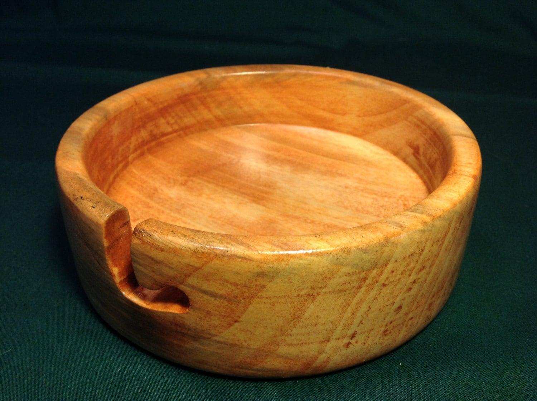 Knitting Bowls Wood : Wooden yarn bowl small