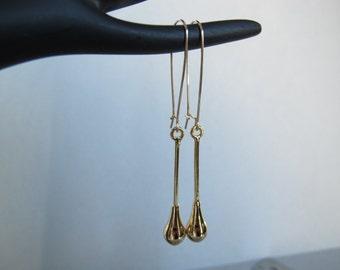 All Gold Long Earrings