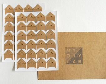 Set of 48 Kraft Paper Photo Corners