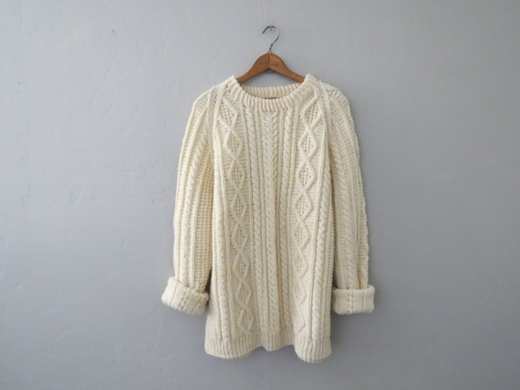 Fishermans Sweater White Womens 69