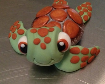 Turtle Cake Topper edible fondant icing