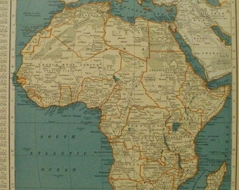 Continent Map Etsy - What continent is sudan in