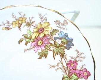Vintage Rosina bone china flowered saucer pattern #4867 Made in England