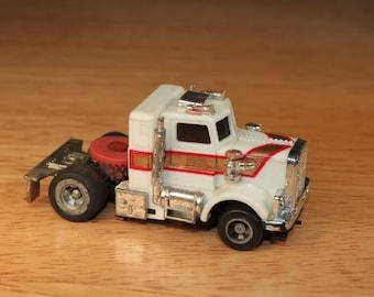 Vintage Ideal TCR Semi Truck Slot Car - HO Scale, 1977