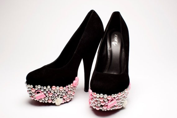 Barbie Prom Party Embellished Platform Heels - Made to Order