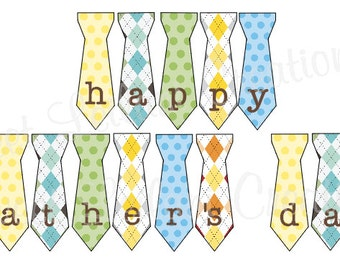 Happy Father's Day Tie Banner - Instant Download