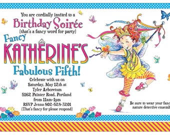 Fancy Nancy Personalized Printable Birthday Invitation