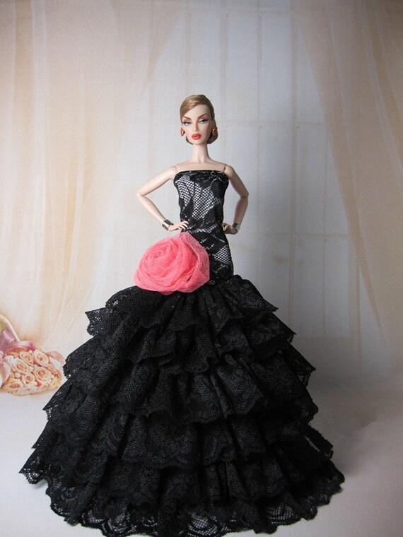 Items similar to Black-handmade barbie dress - Elegant ...