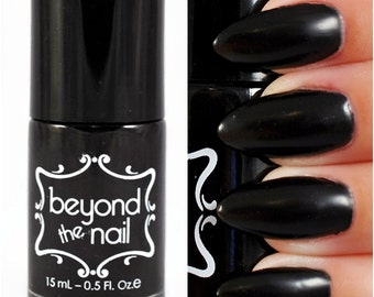 Deep Black Nail Polish