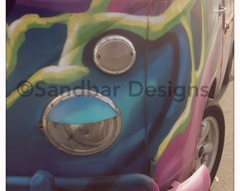 Psychedelic VW bus