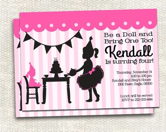 Baby Doll Tea Party Invite