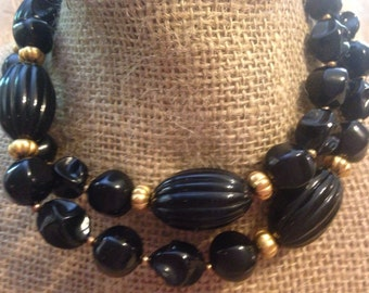 Gorgeous Black BAKELITE Necklace