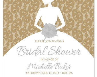 Edit Your Own with Photoshop Printable Bridal Shower