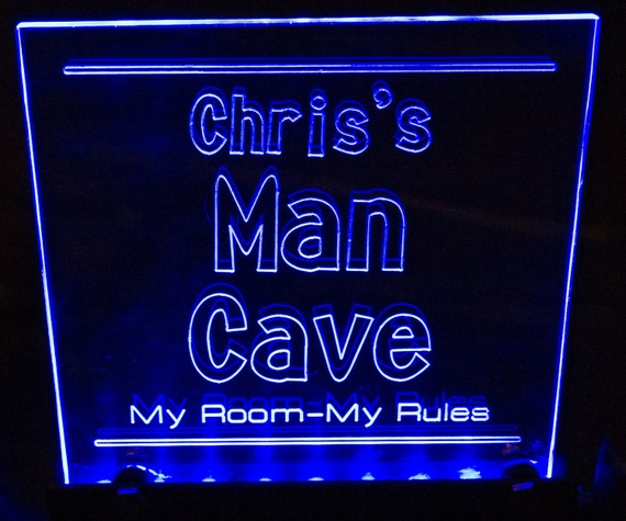 Man Cave Led Signs : Items similar to custom man cave led sign great