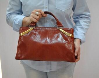 Vintage SILVIE  leather purse , leather handbag...(238)