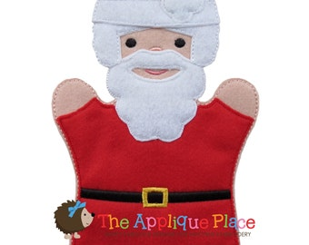 Santa Claus Hand and Finger Puppet In The Hoop Machine Embroidery Applique Design