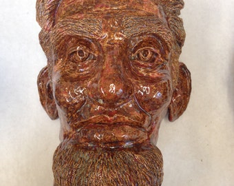 Clay Handmade Abraham Lincoln Bust