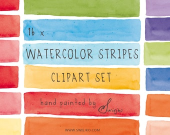 Watercolor Clip Art, Watercolor Stripes, Elements Watercolor, Watercolour, Digital Clipart