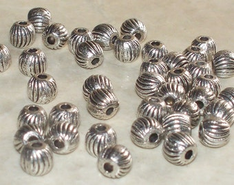 40  Antiqued Tibetan Silver Scalloped Spacers 5MM