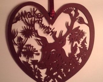 Make a Wish Deer and Dandelions papercut