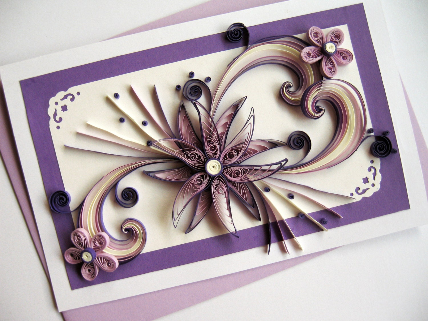 Mothers Day Card Mom Birthday Handmade Paper Quilling – Handmade Greeting Cards for Birthday