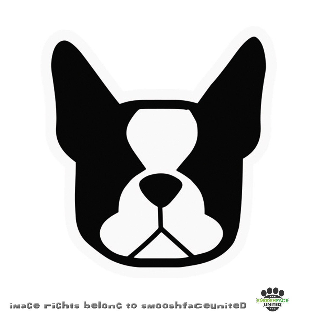 boston terrier dog decal vinyl stickers in black u0026white