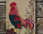Rooster Welcome Sign, Hand Painted