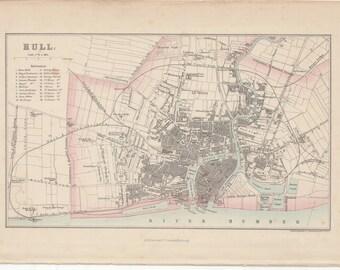 1872 map of Hull by J Bartholomew #00103