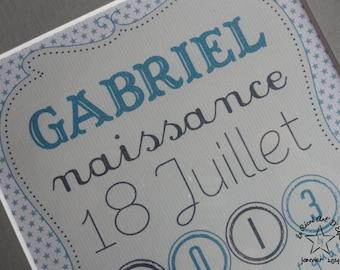 Illustration custom birth gift