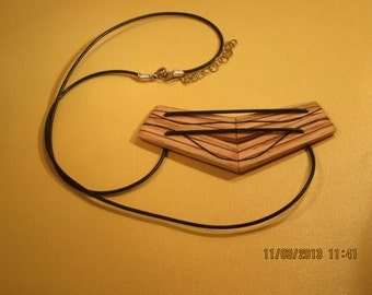 Laminated wood pendant