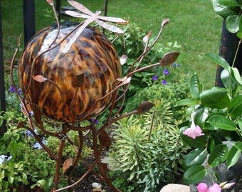 "Iron Twig Gazing Ball or Plant Stand- 40"" tall"