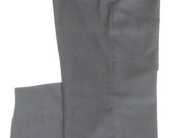 Hart Schaffner Marx Navy Worsted Sz. 36 Dress Flat Front 100% Wool