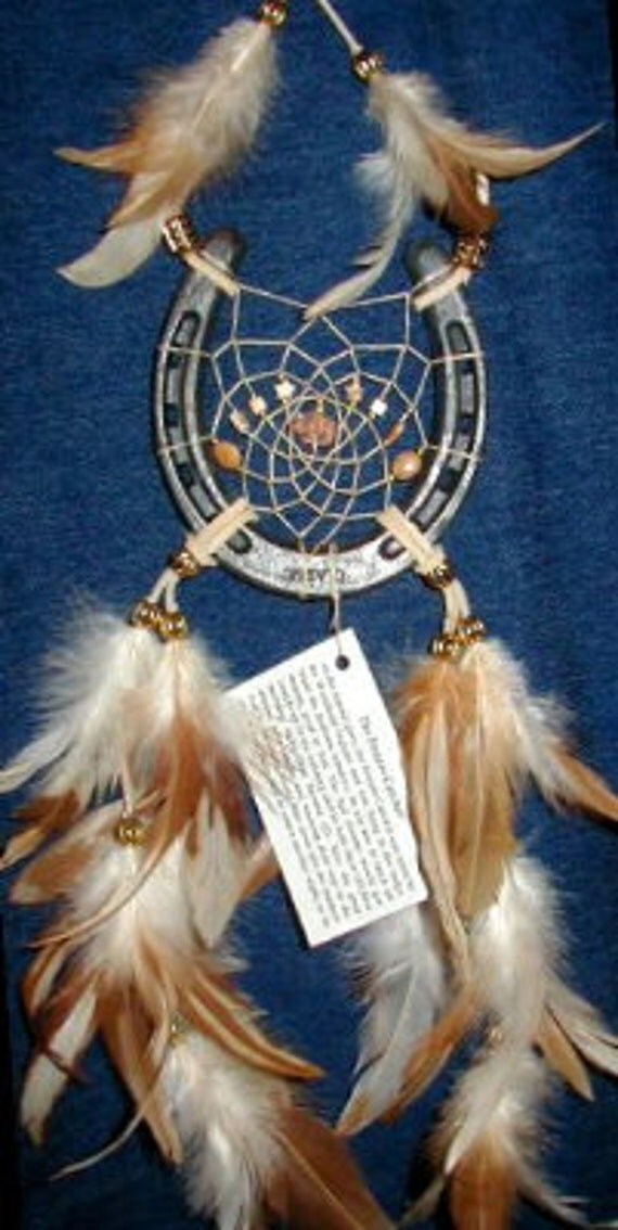 Dreamcatcher Horseshoe In Natural Browns With A Buffalo