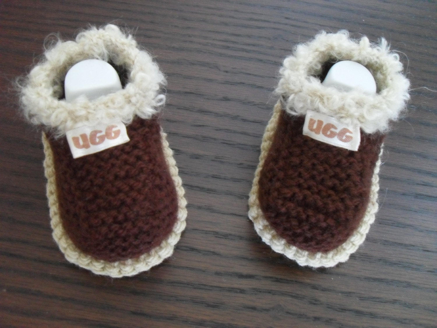 Knitting Baby Shoes : Instant download knitting pattern baby shoes booties quick