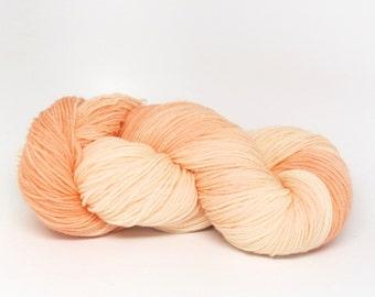 Peach Chiffon- Stunning Superwash Fingering Weight - 100% Superwash Merino - 100 g - 475 yds