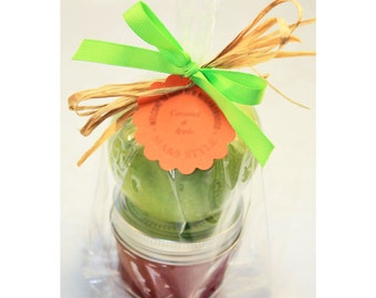 Caramel and Apple favor, Fleur De Sel Caramel Sauce, Fall Favor - 3 (4 oz.) jar