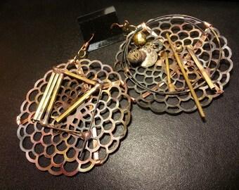Copper Brass Handmade Earrings