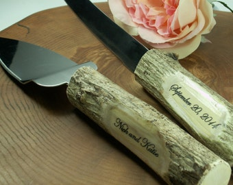 Wedding Cake Server,Wedding Cake Server And Knife Set - Country Rustic Chic Wedding
