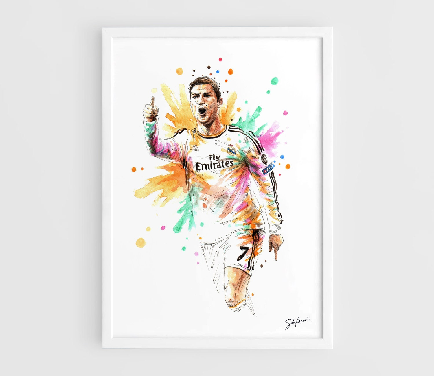 Cr ronaldo real madrid a3 wall art print poster of the for Posters art prints