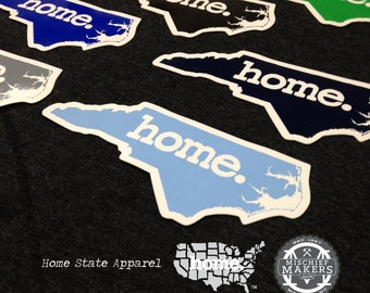 North Carolina home colored vinyl sticker