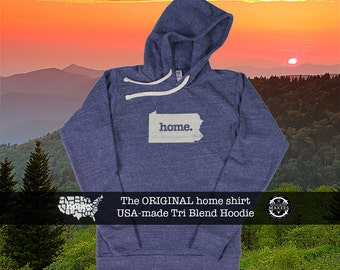 Tri Blend Pull Over Hoodie Pennsylvania Home Sweatshirt