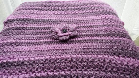 PDF baby pram blanket crochet pattern in chunky yarn