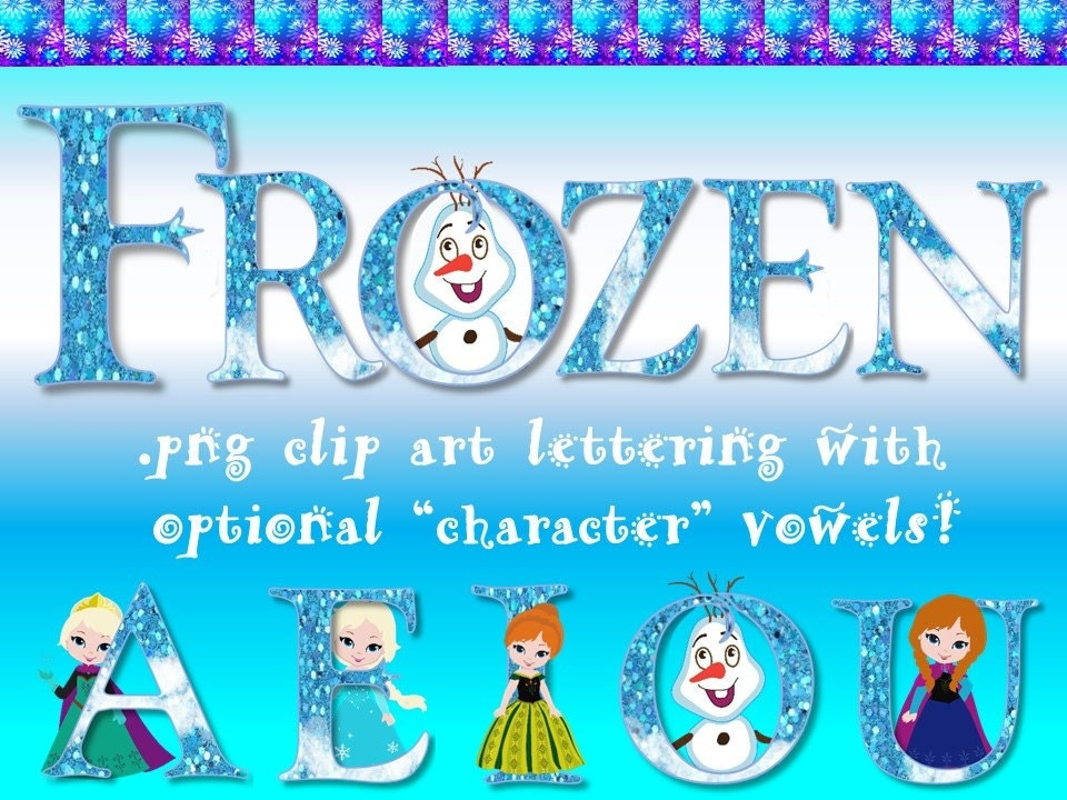 FONTS Disney's Frozen Inspired Digital Font Personal