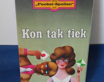 Vintage Dutch Board Game (Pocket Game): 'Kon-tak-tiek'