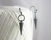 Oxidized silver spike earrings, silver spike earrings, dangle earrings, charm earrings, earrings, jewelry, women, gift, summer, holidays