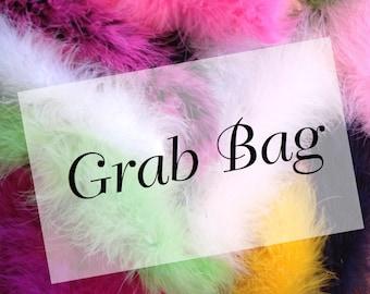 Marabou Boa 25g Extra Fluffy  Bits N Pieces Grab Bag Remnants Marabou Boa Feathers