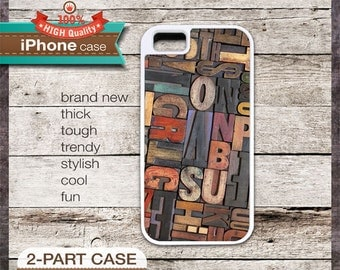 Font 4 Typefaces Vintage Wood Fonts Photograph - iPhone 6, 6+, 5 5S, 5C, 4 4S, Samsung Galaxy S3, S4