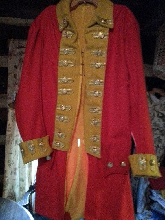 18 th Century Regimental and Civilian Frock Coat Example Custom Order